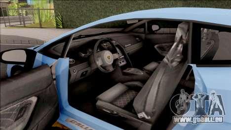 Lamborghini Gallardo Superleggera LP 570-4 pour GTA San Andreas vue arrière
