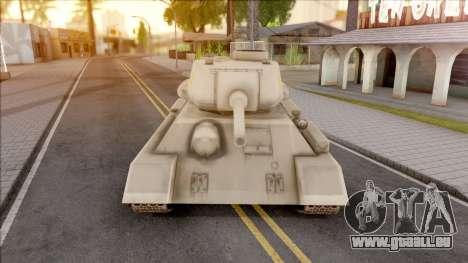 T-34 Z pour GTA San Andreas vue intérieure