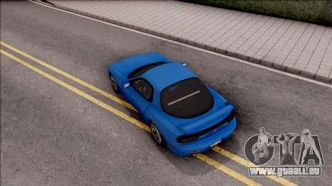 Mazda RX-7 1997 für GTA San Andreas Rückansicht