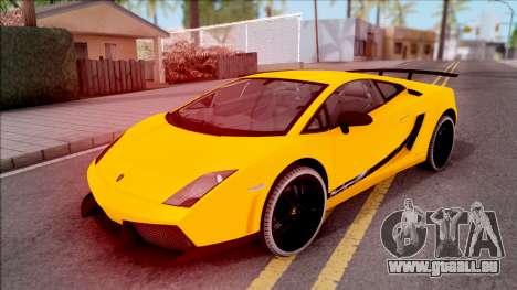 Lamborghini Gallardo Superleggera LP 570-4 pour GTA San Andreas vue de dessous