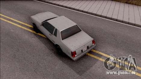GTA IV Declasse Sabre pour GTA San Andreas vue arrière