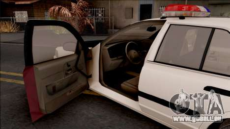 Ford Crown Victoria 2004 Des Moines PD pour GTA San Andreas vue intérieure