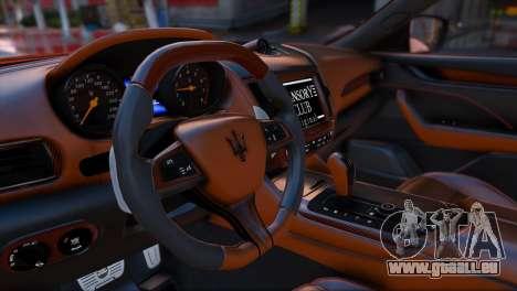 GTA 5 Maserati Levante Mansory arrière vue latérale gauche