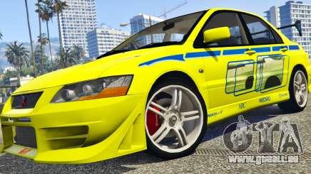 Mitsubishi Lancer Evolution VII 1.1 pour GTA 5