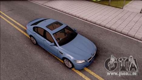 BMW M5 F10 Stock v1 pour GTA San Andreas vue de droite