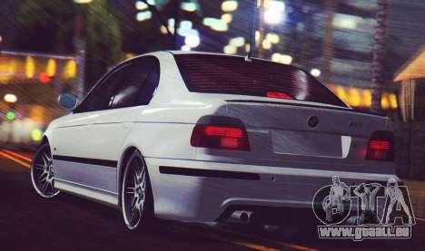 BMW M5 E39 (2017 re-styling) für GTA San Andreas zurück linke Ansicht