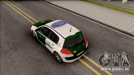 Renault Megane Guardia Civil Spanish pour GTA San Andreas vue arrière