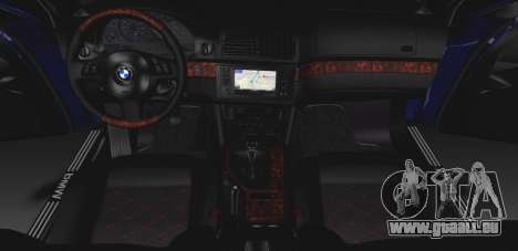 BMW M5 E39 (2017 re-styling) für GTA San Andreas Innenansicht
