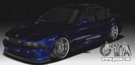 BMW M5 E39 (2017 re-styling) für GTA San Andreas Rückansicht