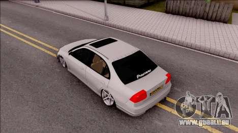 Honda Civic E.K MODS pour GTA San Andreas vue arrière