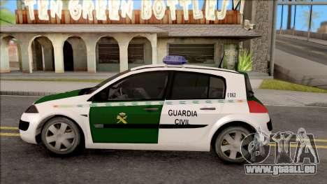 Renault Megane Guardia Civil Spanish pour GTA San Andreas laissé vue