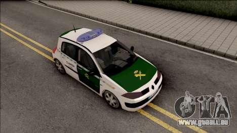 Renault Megane Guardia Civil Spanish pour GTA San Andreas vue de droite