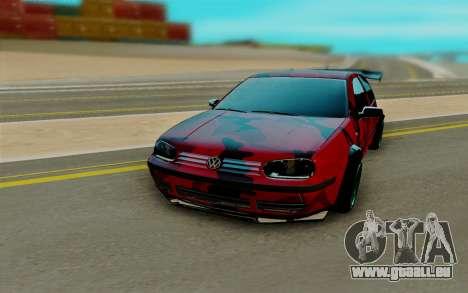 Volkswagen Golf IV pour GTA San Andreas vue arrière