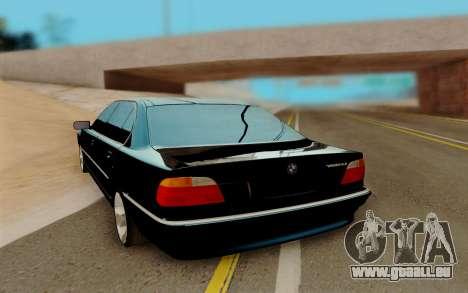 BMW 750 für GTA San Andreas zurück linke Ansicht