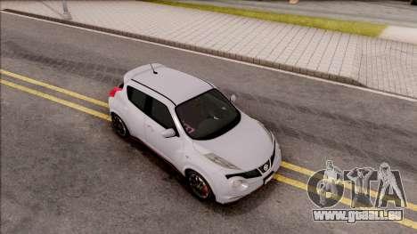 Nissan Juke Nismo RS 2014 v2 pour GTA San Andreas vue de droite