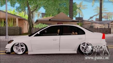 Honda Civic E.K MODS pour GTA San Andreas laissé vue