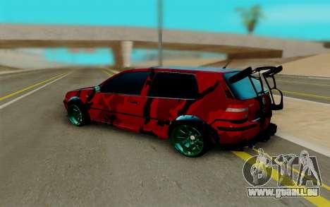 Volkswagen Golf IV pour GTA San Andreas vue de droite