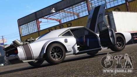 GTA 5 Dodge Charger Fast & Furious 8 hinten links Seitenansicht