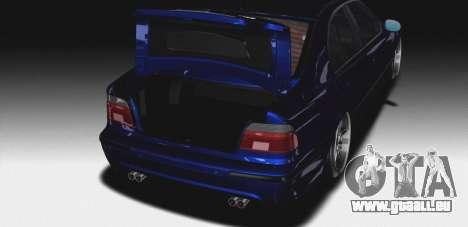 BMW M5 E39 (2017 re-styling) für GTA San Andreas Unteransicht