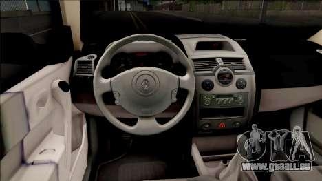 Renault Megane Guardia Civil Spanish pour GTA San Andreas vue intérieure