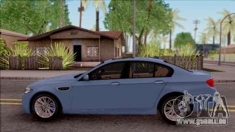 BMW M5 F10 Stock v1 pour GTA San Andreas laissé vue