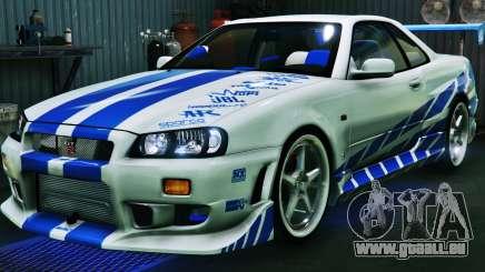 Nissan Skyline GT-R34 3.0 pour GTA 5