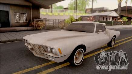 Buick Riviera 1972 Boattail Lowrider Gray für GTA San Andreas