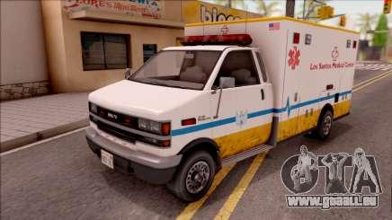 Brute Ambulance GTA V für GTA San Andreas