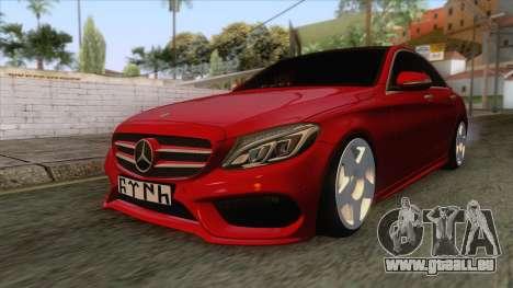 Mercedes-Benz C250 Stance pour GTA San Andreas sur la vue arrière gauche