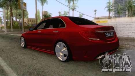 Mercedes-Benz C250 Stance für GTA San Andreas rechten Ansicht