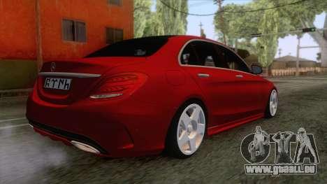 Mercedes-Benz C250 Stance pour GTA San Andreas laissé vue