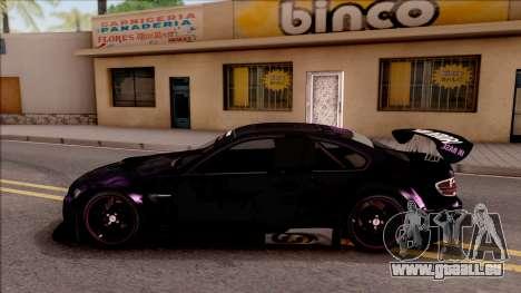 BMW M3 GT2 Itasha Mash Kyerlight Fate Apocrypha für GTA San Andreas linke Ansicht