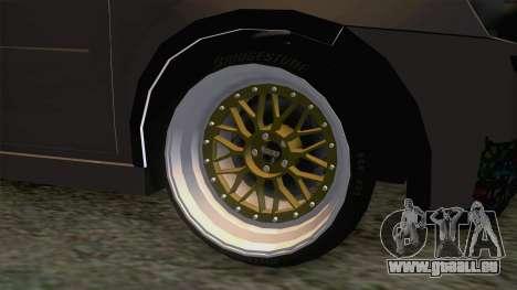 Opel Corsa Stance für GTA San Andreas Rückansicht