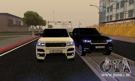 Range Rover Vogue Armenian pour GTA San Andreas vue de dessus