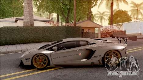 Lamborghini Aventador Liberty Walk 2012 pour GTA San Andreas laissé vue