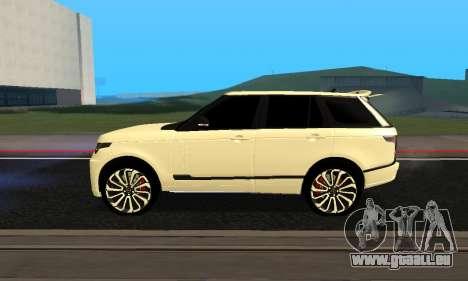 Range Rover Vogue Armenian pour GTA San Andreas sur la vue arrière gauche