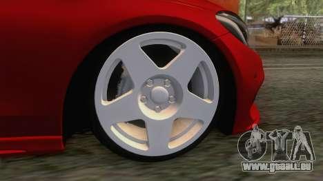 Mercedes-Benz C250 Stance pour GTA San Andreas vue arrière