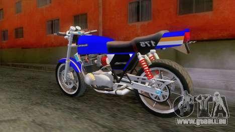 Kawasaki Barako 175 pour GTA San Andreas laissé vue