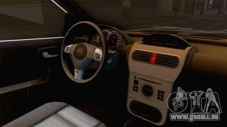 Opel Corsa Stance für GTA San Andreas Innenansicht