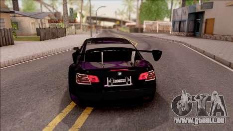 BMW M3 GT2 Itasha Mash Kyerlight Fate Apocrypha für GTA San Andreas zurück linke Ansicht