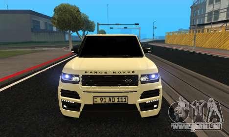 Range Rover Vogue Armenian pour GTA San Andreas laissé vue
