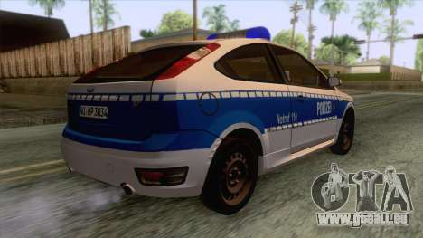 Ford Focus ST Polizei Hessen pour GTA San Andreas laissé vue