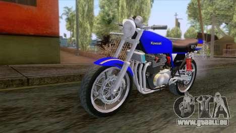 Kawasaki Barako 175 pour GTA San Andreas sur la vue arrière gauche