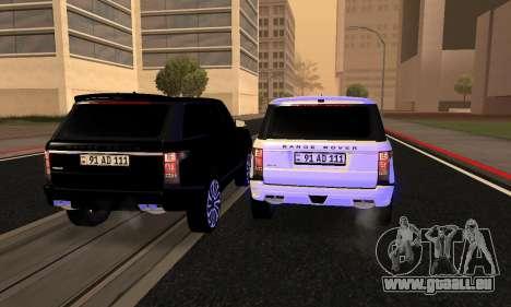 Range Rover Vogue Armenian pour GTA San Andreas vue de dessous