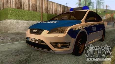 Ford Focus ST Polizei Hessen pour GTA San Andreas sur la vue arrière gauche