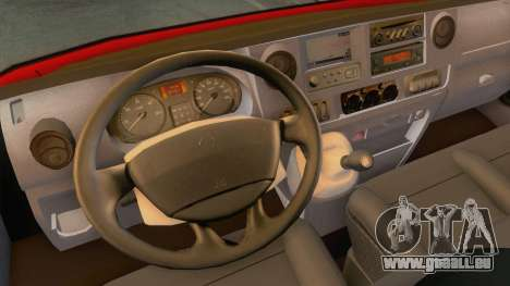 Fiat Ducato Maxi 1999 pour GTA San Andreas vue intérieure