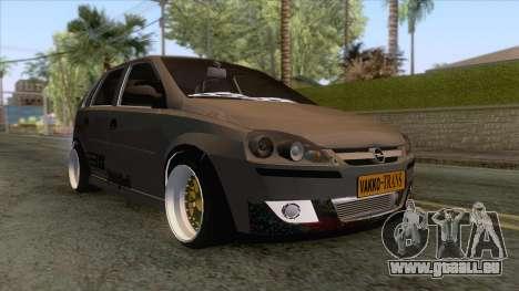 Opel Corsa Stance für GTA San Andreas zurück linke Ansicht