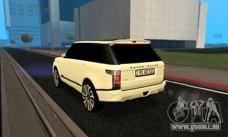 Range Rover Vogue Armenian pour GTA San Andreas vue de droite