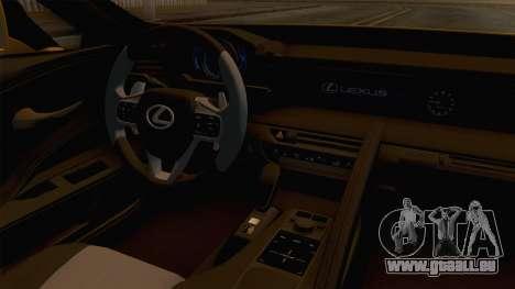 Lexus LC 500 2017 für GTA San Andreas