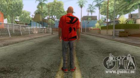 Santiago Maldonado Skin pour GTA San Andreas troisième écran